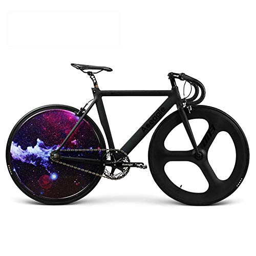 Bike, Road Bike, LED Light Hyun Cool Rear Wheel, Built-In Rechargeable Lithium Battery,Aluminum Alloy Frame, Front Wheel...