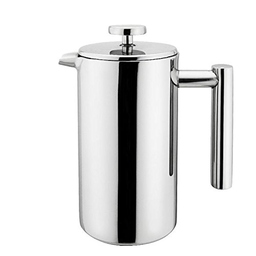 Small Stainless Steel French Press - 12 ounce Coffee Plunger, Press Pot, Best Tea Brewer & Maker, 3 cups (4 oz each cup), Quality Cafetiere, Simple Package