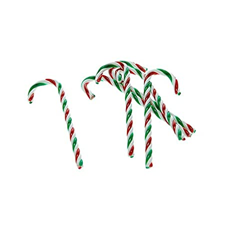 set of 6 candy cane christmas tree decorations red green white 13cm