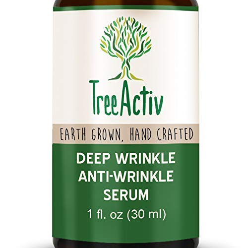 TreeActiv Deep Wrinkle Anti-Wrinkle Serum, Reduce Under Eye Wrinkles, Crow's Feet & Laugh Lines, Increase Collagen, Elasticity, Firmness, Hyaluronic Acid, Dragon's Blood, Ginkgo Biloba, 1 fl oz