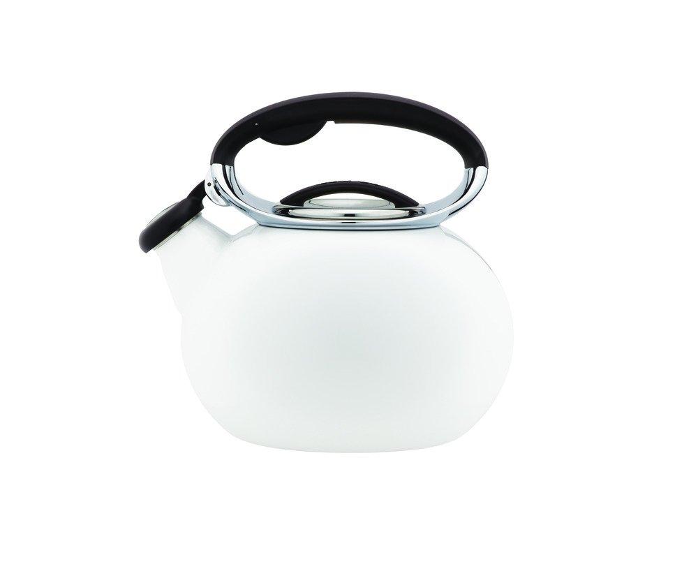 Copco 5197720 Ellipse Enamle On Steel Tea Kettle, 2-Quart, White