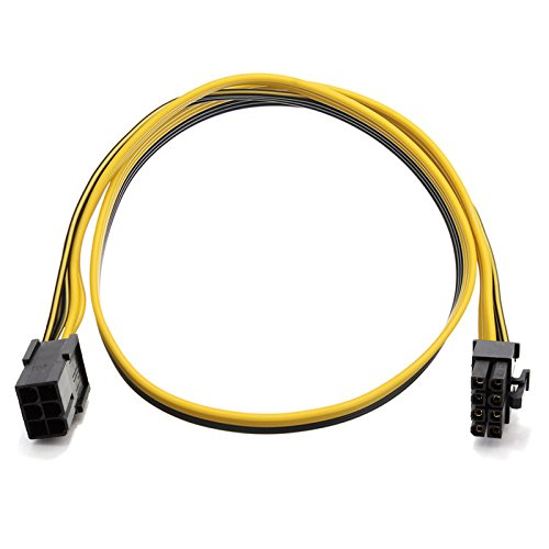 (PCIe 6-Pin to 8-Pin PCIe Express Adapter Power Converter Cable for Video Card 20 inches TeamProfitcom)