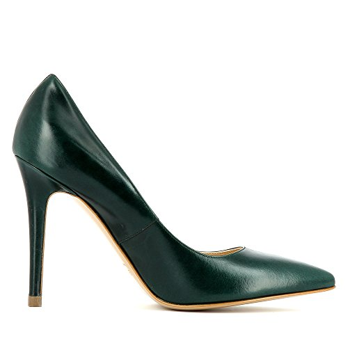 Evita Shoes Alina Damen Pumps Glattleder Dunkelgrün
