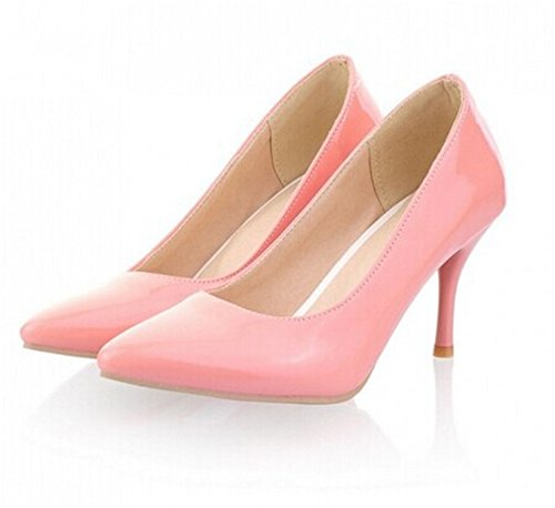 PINZHUANG New Fashion High Heels Women Pumps Thin Heel Classic White Red Nede Beige Sexy Prom Shoes Pink 6