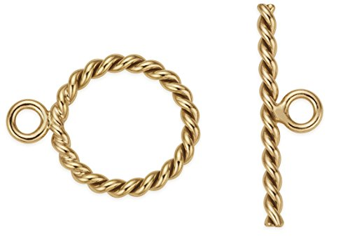 3 Sets 14Kt Gold Filled Twisted Toggle Clasp 11 mm