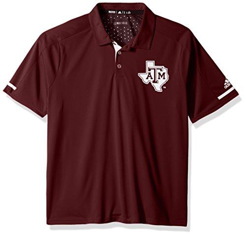 adidas NCAA Texas A&M Aggies Adult Men NCAA Sideline Climachill Polo, Medium, (Texas A&m Golf Gear)