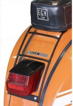 starr f/ür VESPA 150 Sprint Veloce 150 VLB1T 2T AC 69-79 SIP 70s schwarz Gep/äcktr/äger hinten Gep/äckauflage:30x20cm