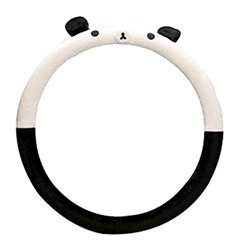 Kangkang@ Winter Short Plush Car Sets Car Steering Wheel Cover Cartoon Cute,Panda
