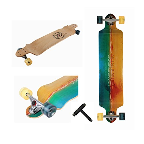 Xtreme Free Professional Speed Drop Down Complete Longboard Skateboard42 Inches