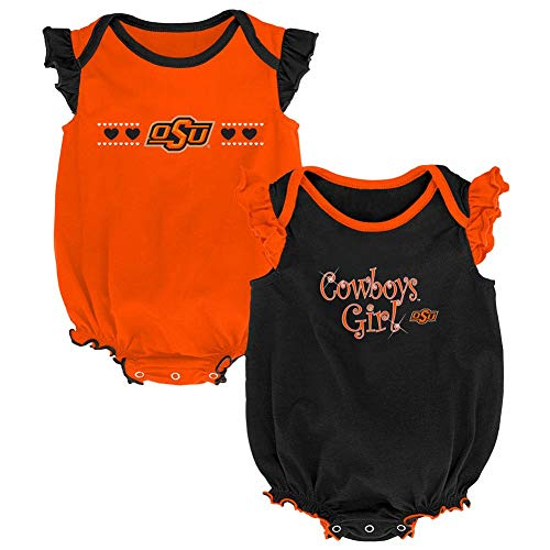 Outerstuff Oklahoma State University Creeper 2 Pack Homecoming Bodysuit Set (12 M)
