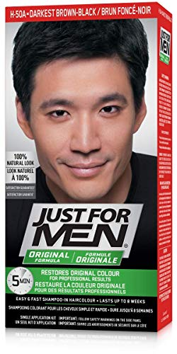 Just For Men Original Formula Men's Hair Color, Real Darkest Brown-Black