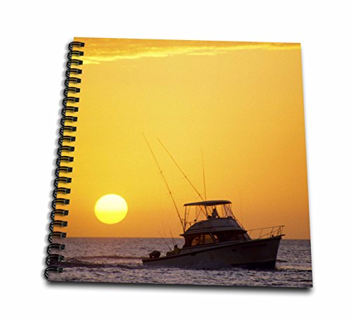 3dRose db_89071_2 A Fishing Boat and Sunset in Key West, Florida-Us10 Dfr0107-David R. Frazier-Memory Book, 12 by 12-Inch (Best Fishing In Key West Florida)