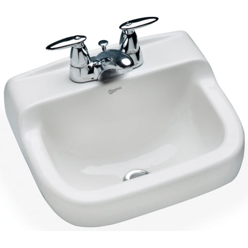 4 Vitreous China - Mansfield 1613NS-4 16-Inch by 13-InchSpruce Cove Wall-Mounted Bathroom Sink