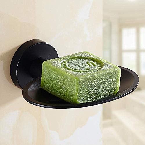 HXC-HXC バスルームアクセサリー304ステンレス鋼黒塗りの石鹸箱壁掛け石鹸箱石鹸箱の家の装飾 せっけん
