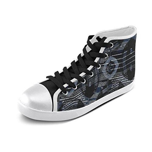 Artsadd Cool Letter High Top Canvas Shoes For Men (Model002) pywntpT3X