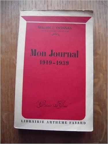 Mon journal 1919-1939 pdf ebook