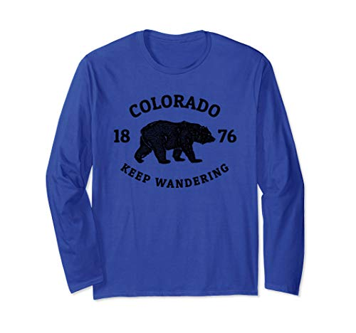 Keep Wandering Colorado Bear Tee Shirt (Fort Collins To Rocky Mountain National Park)