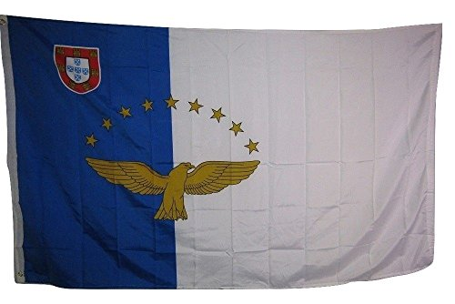 Rough Star - 3x5 Azores Crest Eagle Stars Rough Tex Knitted Flag 3'x5' Banner Brass Grommets