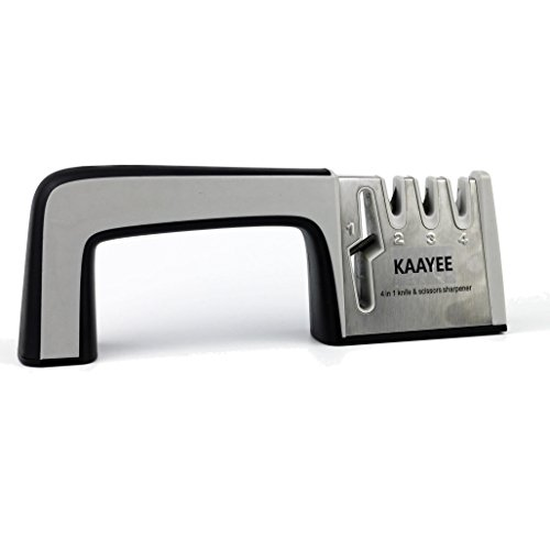 KAAYEE Kitchen Sharpener with Scissor Sharpener Integrated 4