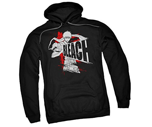 Bleach Sword Drawn Adult Hoodie Sweatshirt, X-Large