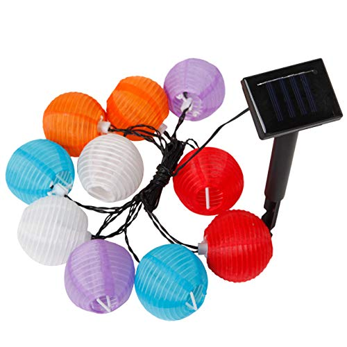 Outdoor Paper Lantern String Lights in US - 7