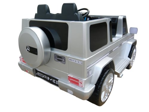 National Products 12V Silver Mercedes Benz G-Class Battery Operated Ride-on