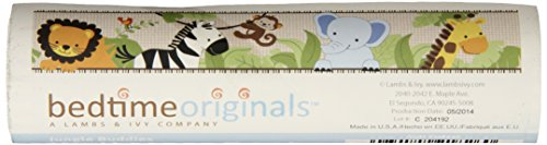Bedtime Originals Jungle Buddies Wallpaper Border, Brown/Yellow (Border Jungle Wallpaper Babies)
