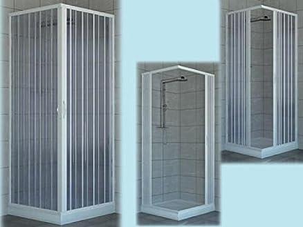 box doccia cabina doccia pvc angolare h.185 larghezza 70/80 arredo ... - Arredo Doccia Bagno