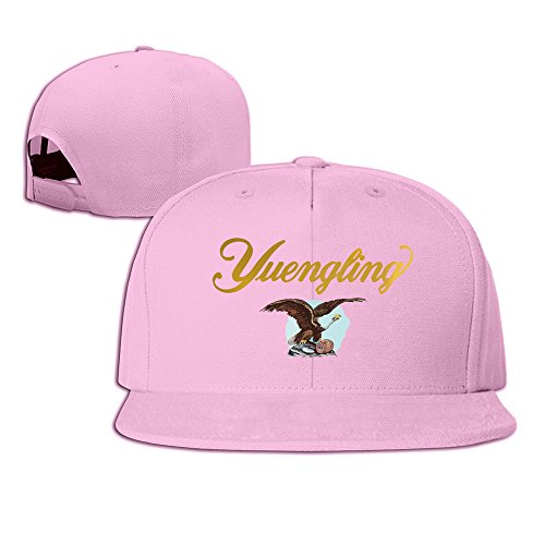 Yuengling Premium Beer Snapback Hat Flat Baseball Cap One Size Pink