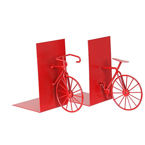 Truu Design, Metal Bicycle Bookends, Set of 2, 5.5 inches, (Bike Bookends)
