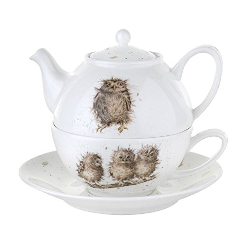 Portmeirion Royal Worcester Wrendale Tea for One with Saucer (Pack of 2)