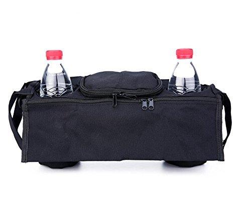 Kinderwagen Organizer,Worsendy Transporttaschen f/ür Kinderwagen Buggy Bag Universal Schwarz Baby Wickeltasche Kinderwagen Buggy mit Getr/änkehalter Becherhalter