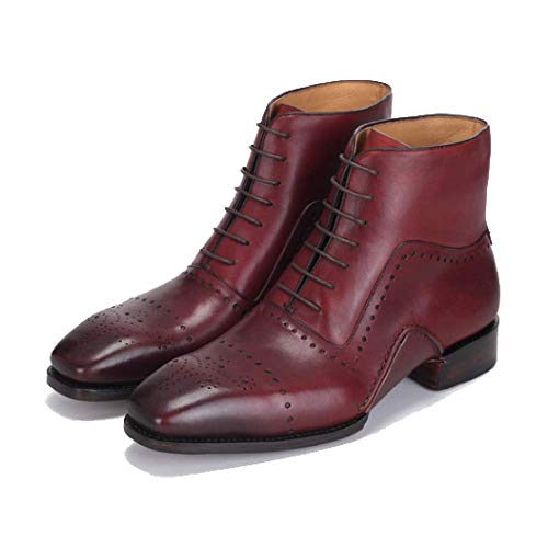 Custom da Autunno Brown Inverno End Deodorante Massage Scarpe Stringate Uomo High E Handmade Caldo Goodyear Scarpe qRUwI8R