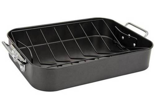 Alpine Cuisine Roasting Pan with Rack - 16 inch