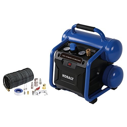 Kobalt 2-Gallon Portable Electric Twin Stack Air Compressor (Best 2 Gallon Air Compressor)