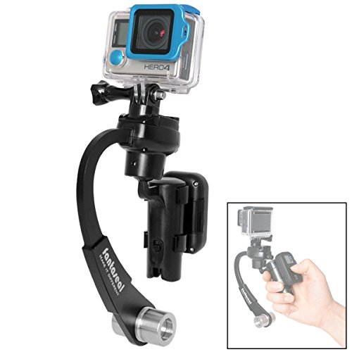 Portable 3-Axis Inertia Gyro Action Camera Handheld Stabilizer Motion Camcorder Hand Grip Mechanical Gimbal w/RC Holder Compatible with GoPro Hero 7 6 5 4 3 Session DJI OSMO Action Akaso EKEN APEMAN