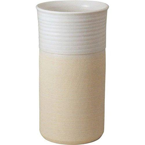 信楽焼 ナチュラルホワイト傘立(全高45cm×全幅24.5cm) B075LLPXRP