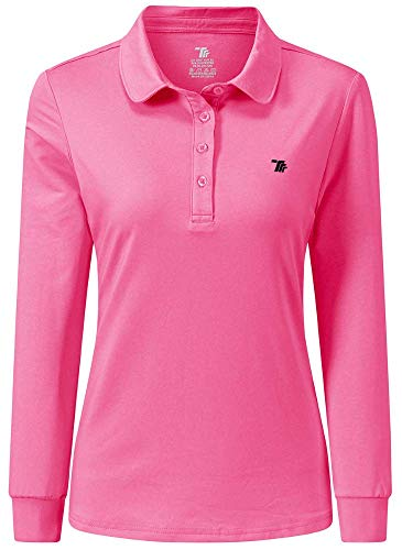 AIRIKE Golf Polo Shirts for Women Long Sleeve Colourful Quick-Dry Workwear & Activewear-Womens Athletic Apparel