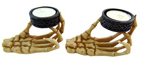 Skeleton Hand Tealight Candle Holder, Set of 2