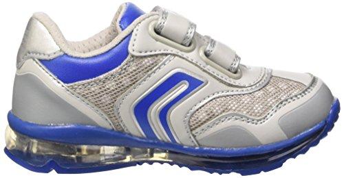 Geox B Todo Boy a, Zapatos de Primeros Pasos para Bebés Grigio (Lt Grey/Royal)