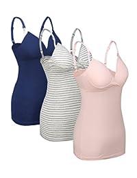Women Tops Breastfeeding Nursing Bras Top Pajamas for Pregnant Maternity 2PCS/3PCS