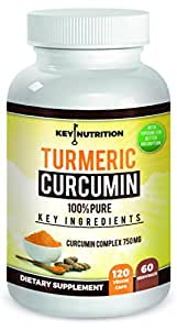 Turmeric Curcumin 1500mg 2 month supply 120 Veggie Capsules- with Piperine(Black Pepper) Extract- High Absorption Formula With 95% Standardized Curcuminoids- Anti Inflammatory, Joint Support And More