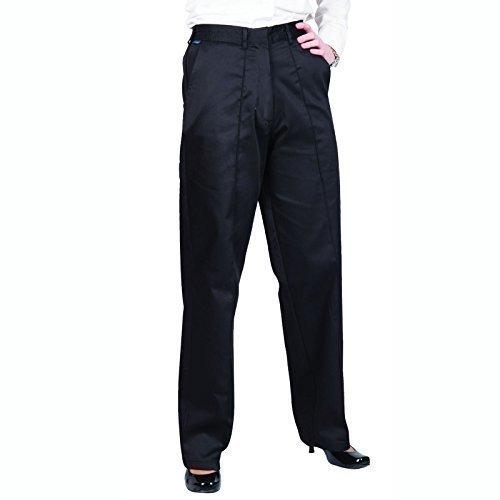 Portwest - Pantalones elásticos de trabajo para mujer (XS-REGULAR/Azul marino) Blanco