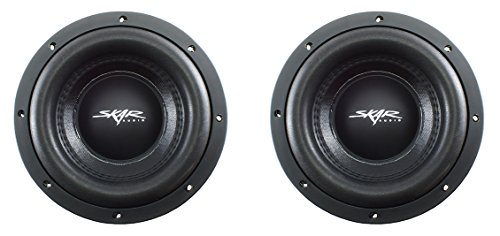 (2) Skar Audio VD-8 D2 8″ 600W Max Power Dual 2 Ohm Shallow Mount Subwoofers, Pair of 2
