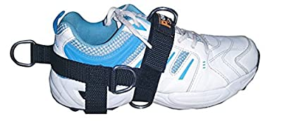 foot strap New 5-D Ankle 5 -Ring Cable Gym Machine Attachment for Men/Women Yoga, Pilates, Leg/Foot/Ankle Training/Fitness Strap (Sold Single) Ideal for Donkey Kickbacks