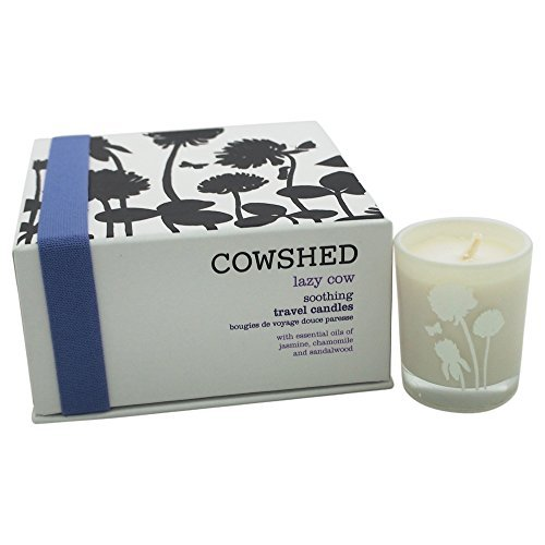 At Home by Cowshed Lazy Cow Soothing Travel Candles 4x by Cowshed by Cowshed