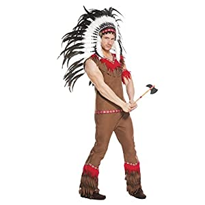 Music Legs Men's Indian Chief, Brown, Medium