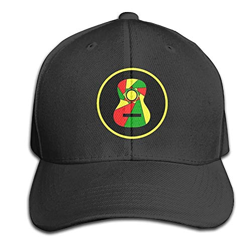 Makayla Riley Reggae Guitar Butty Cap Black Baseball Cap Hats Adjustable Head Circumference,Wear Comfortable