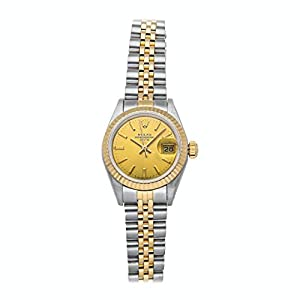 Best Epic Trends 41rOLRL6RJL._SS300_ Rolex Datejust Mechanical(Automatic) Champagne Dial Watch 69173 (Pre-Owned)