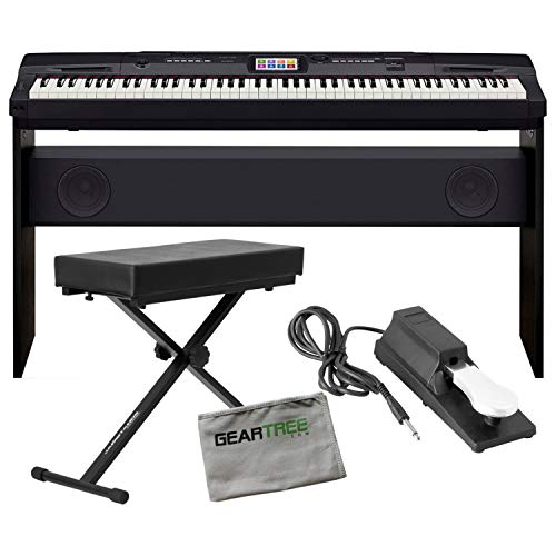 Casio CGP700BK Compact Grand Piano w/ Deluxe Bench and Sustain Pedal